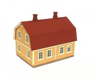 Mansardikattoinen talo